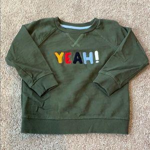 "GYMBOREE ""Yeah!"" Sweatshirt"